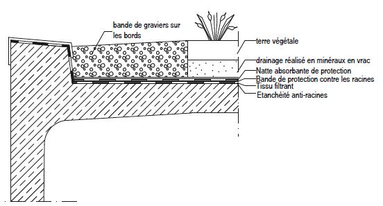 Schéma végétalisation du toit