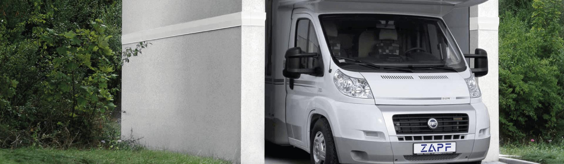 Garage camping car caravanes
