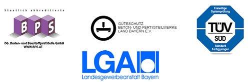 Certifications - Zapf garage préfabriqués en béton armé