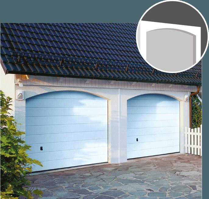 Serif sinus et linteau cintr zapf garages pr fabriqu s for Porte de garage sans linteau