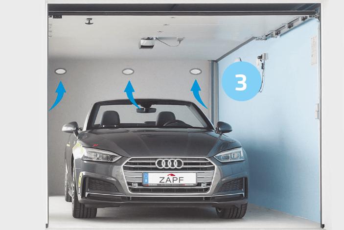 aération voiture garage